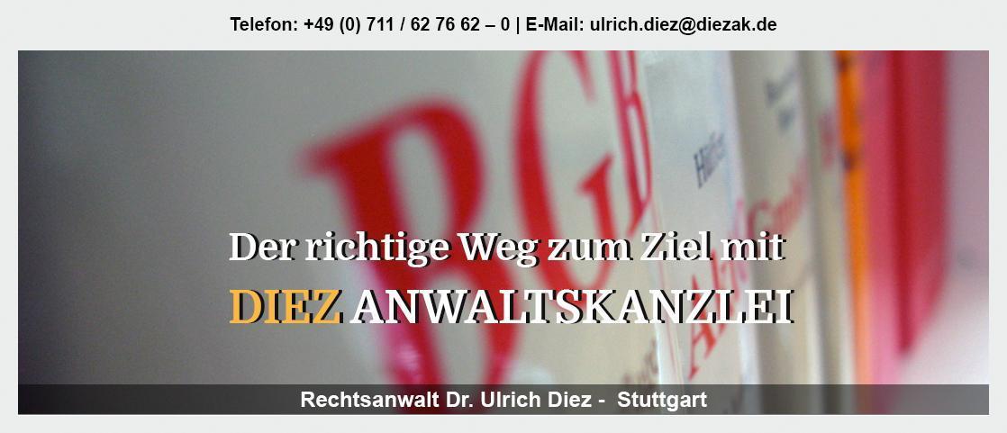 Testament für Markgröningen - Rechtsanwalt - Dr. Ulrich Diez: Gesellschaftsrecht, Erbfolge, Vertragsrecht,